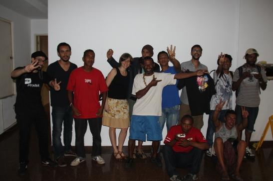 Equipe e conviventes do É de Lei no Prêmio Arthur Bispo do Rosário - 2014
